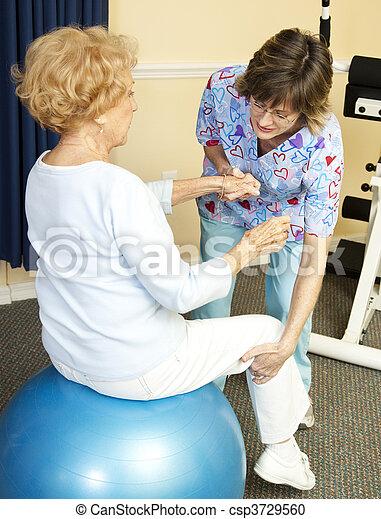 piłka, fizyczny, yoga, terapia - csp3729560