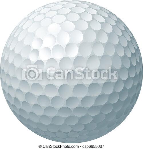 piłka, golf, ilustracja - csp6655087