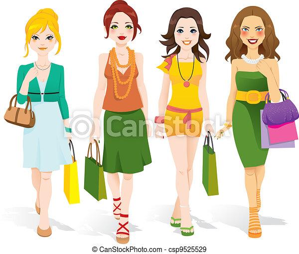 pieszy, fason, dziewczyny - csp9525529