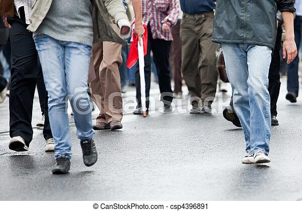 pieszy, grupa, tłum, ludzie, (motion, -, razem, blur) - csp4396891