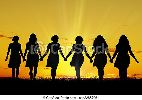 pieszy, kobiety, ręka - csp22887061