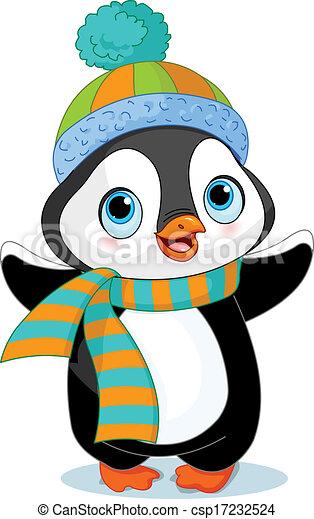 pingwin, zima, sprytny - csp17232524