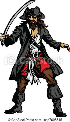 pirat, miecz, maskotka, reputacja - csp7605545