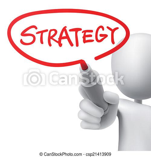 pisemny, strategia, człowiek - csp21413909