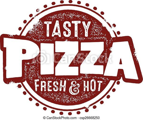 pizza, smakowity, znak - csp26668250