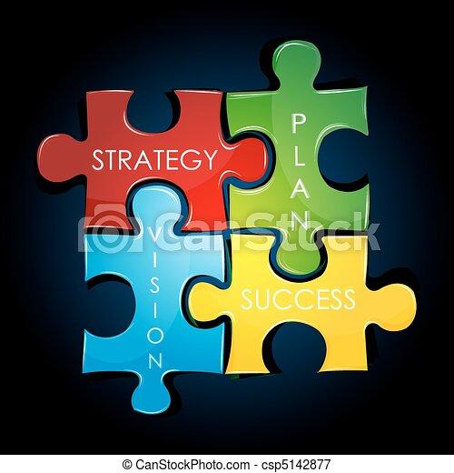 plan, strategia, handlowy - csp5142877