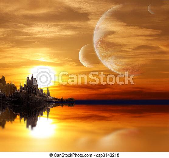 planeta, kaprys, krajobraz - csp3143218