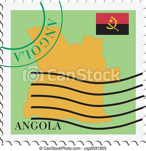 poczta, angola, to/from - csp6591805