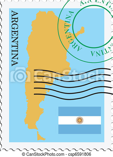 poczta, argentyna, to/from - csp6591806