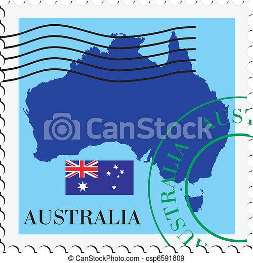poczta, australia, to/from - csp6591809