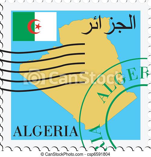 poczta, to/from, algieria - csp6591804