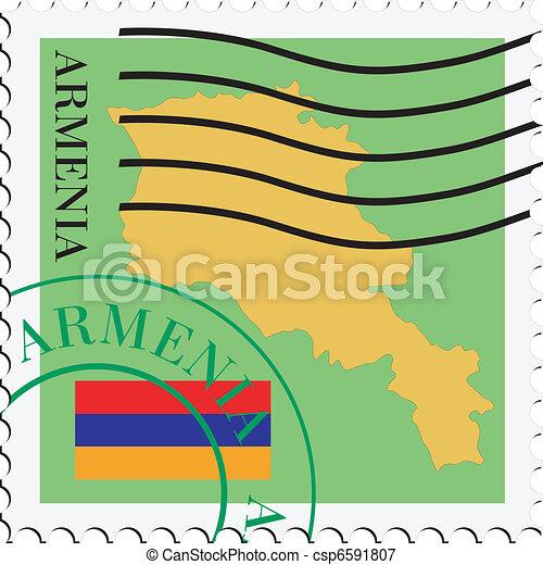 poczta, to/from, armenia - csp6591807