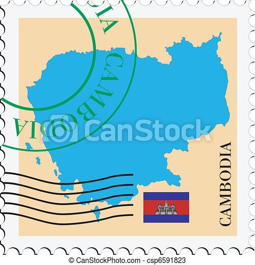 poczta, to/from, kambodża - csp6591823