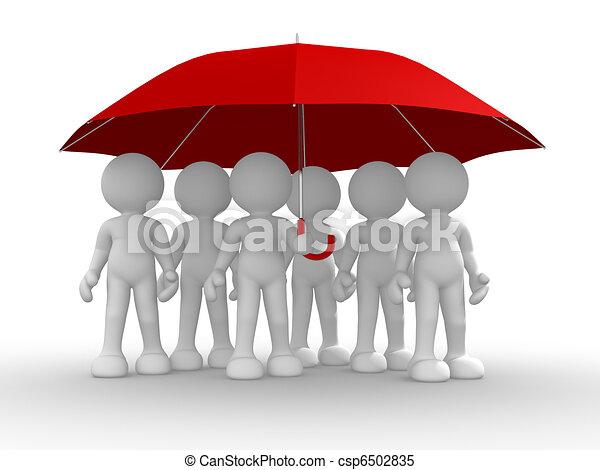 pod, parasol, ludzie, grupa - csp6502835