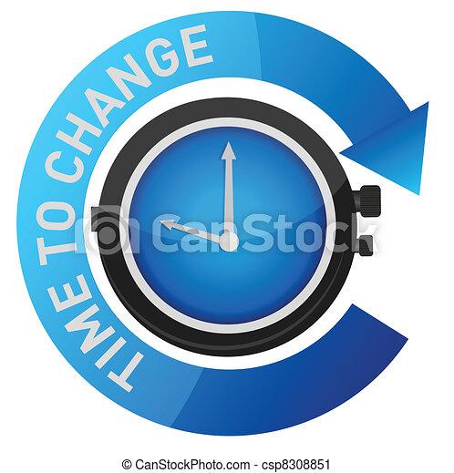 pojęcie, zmiana, ilustracja, czas - csp8308851