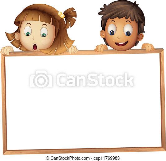 pokaz, dzieciaki, deska - csp11769983