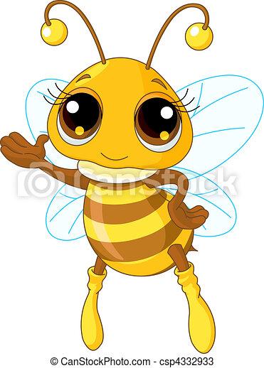 pokaz, sprytny, pszczoła - csp4332933