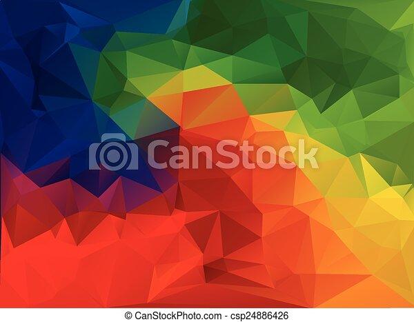 polygonal, wektor, tło, szablony, mozaika, żywy, kolor, handlowy, projektować, ilustracja - csp24886426