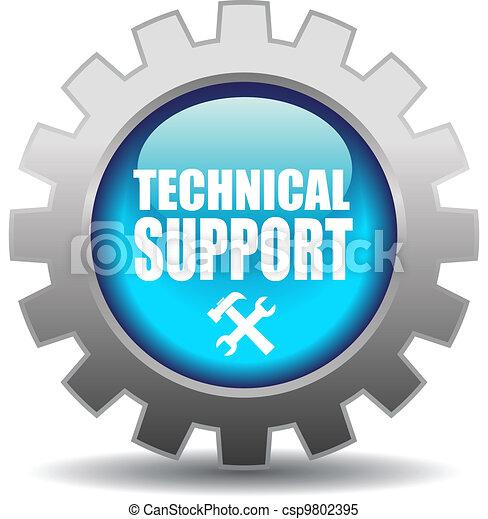 poparcie, wektor, ikona - csp9802395