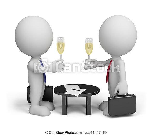 porozumienie, pomyślny - csp11417169