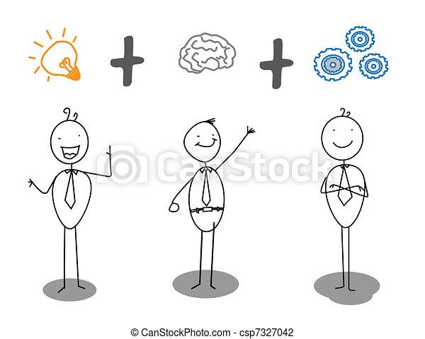 postęp, praca, mądry, idea - csp7327042