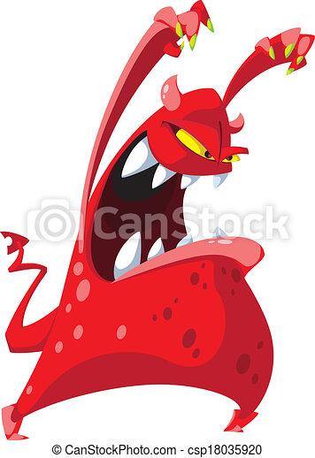 potwór, straszny - csp18035920