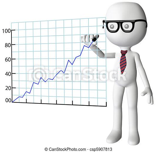 powodzenie, towarzystwo, wykres, dyrektor, wzrost, rysunek - csp5907813