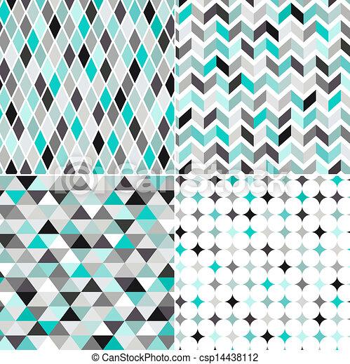 próbka, seamless, geometryczny - csp14438112