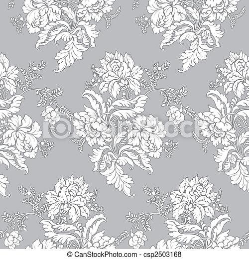 próbka, seamless, -, klasyk, kwiatowy - csp2503168