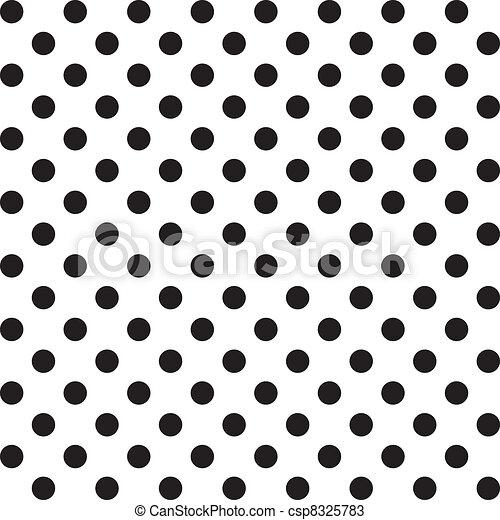 próbka, seamless, kropkuje, cielna, polka - csp8325783