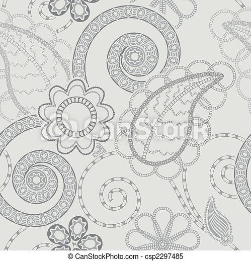 próbka, tło, seamless, kwiatowy - csp2297485