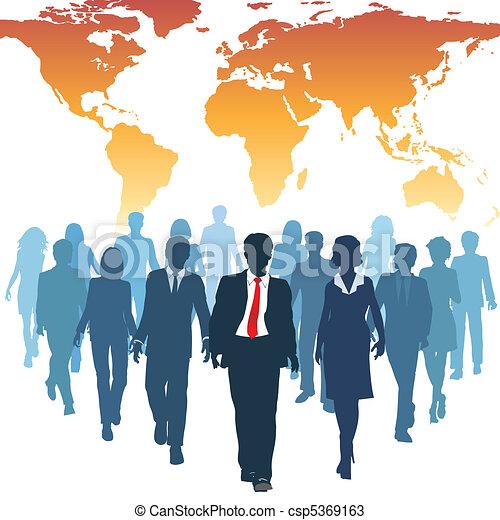 praca, handlowy zaludniają, globalny, ludzki, drużyna, zasoby - csp5369163
