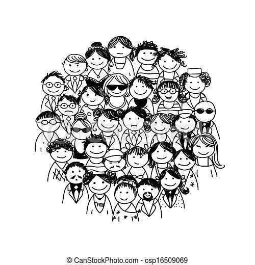 projektować, grupa, twój, ludzie - csp16509069
