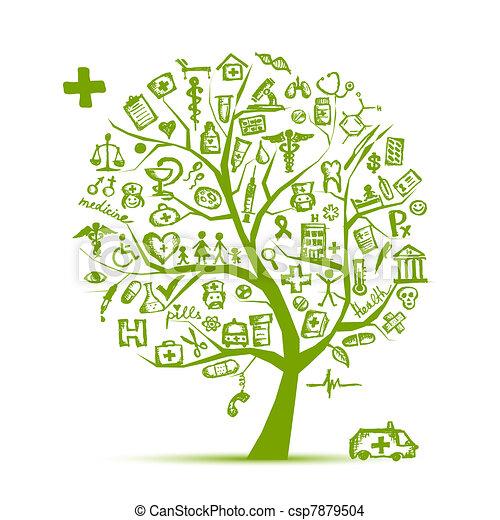 projektować, medyczne pojęcie, drzewo, twój - csp7879504