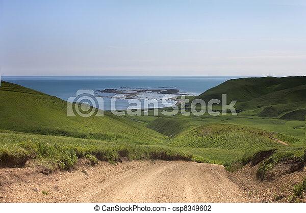 prospekt góry, 2, farwater, ocean - csp8349602
