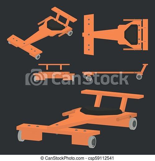 prosty, wóz, soapbox, barwny, klasyk - csp59112541