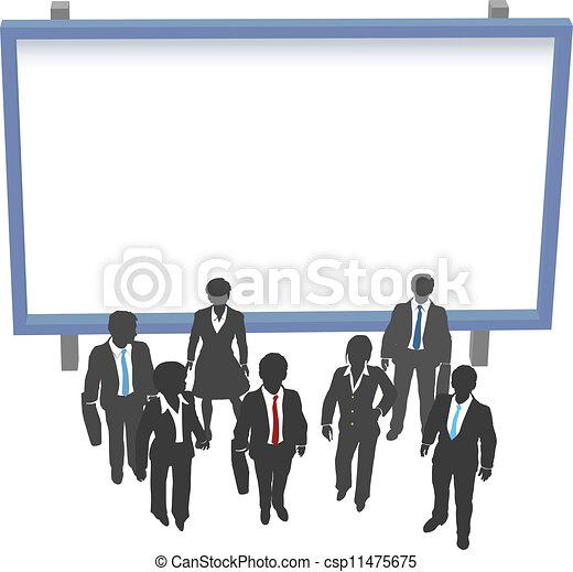 przód, ludzie handlowe, copyspace, znak - csp11475675