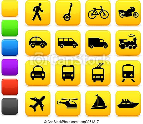 przewóz, elementy, projektować, ikony - csp3251217