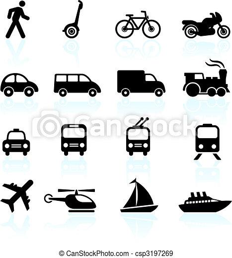 przewóz, elementy, projektować, ikony - csp3197269
