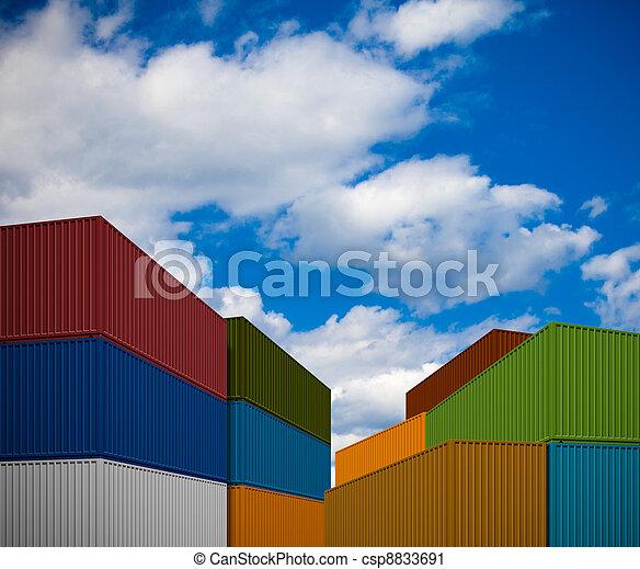 przewóz, stóg, kontenery - csp8833691