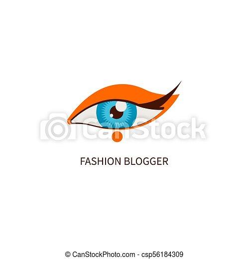 przypatrywać się makeup, fason, blogger - csp56184309