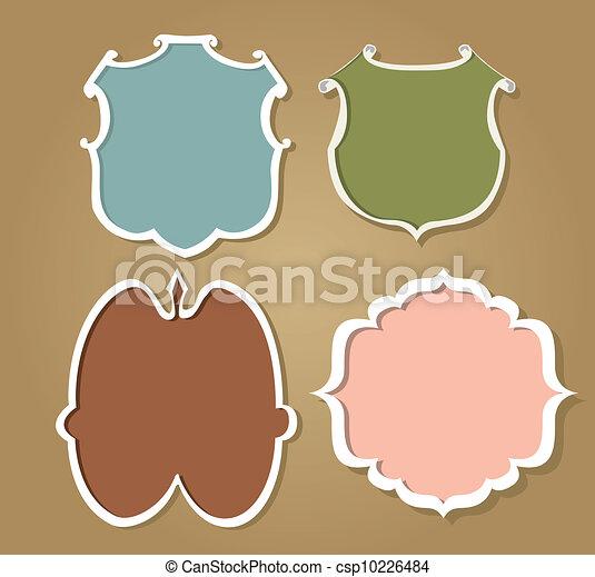 różny, obiekty, (vector, collection:, papier, rząd, zawierać, nie, layer), przeźroczysty, europejczyk - csp10226484