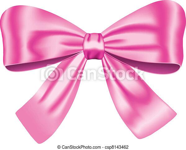 różowy, łuk daru - csp8143462