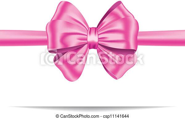 różowy, dar, wstążka, łuk - csp11141644