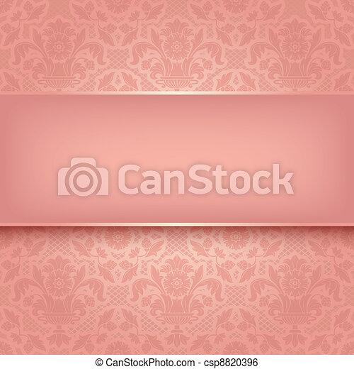 różowy, dekoracyjny, budowla, 10, eps, wektor, tło, texture. - csp8820396