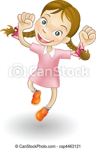 radość, dziewczyna, skokowy, młody - csp4463121