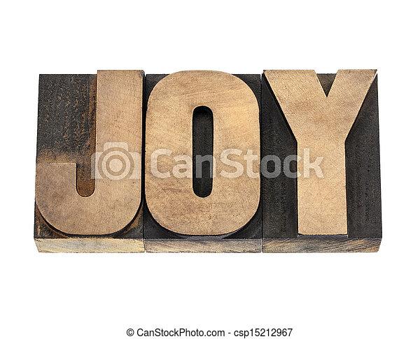 radość, typ, drewno, słowo - csp15212967