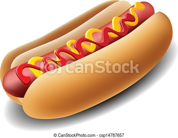realistyczny, hot dog - csp14787657
