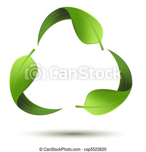 recycle symbol, liść - csp5523620