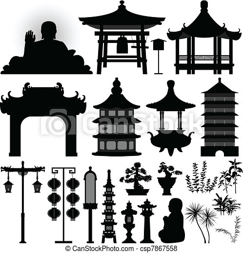 relikwiarz, relikt, asian, chińczyk, świątynia - csp7867558